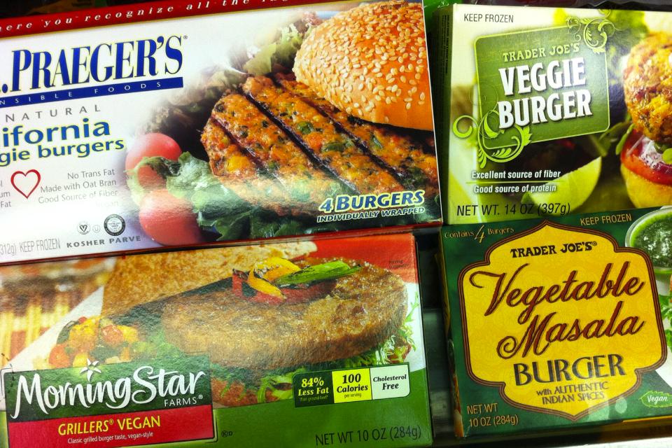 Veggie Burger selection from Trader Joe's