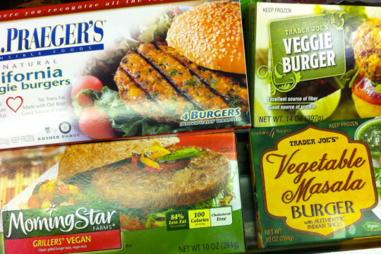 Veggie Burger selection from Trader Joe's
